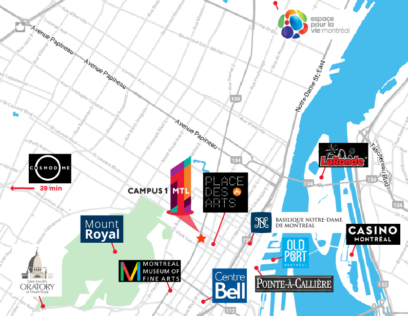 Montreal Tourism Map